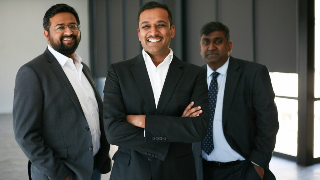 Featured image (left to right): Fo-Sho founding team Mithun Kalan, Avi Naidoo, and Siva Moodley (Supplied)