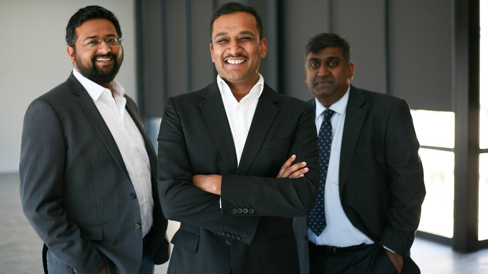 Featured image (left to right): Fo-Sho foudning team Mithun Kalan, Avi Naidoo, and Siva Moodley (Supplied)
