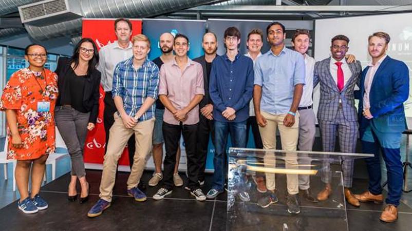 Featured image: Unlock the Block blockchain Hackathon winners (Supplied)