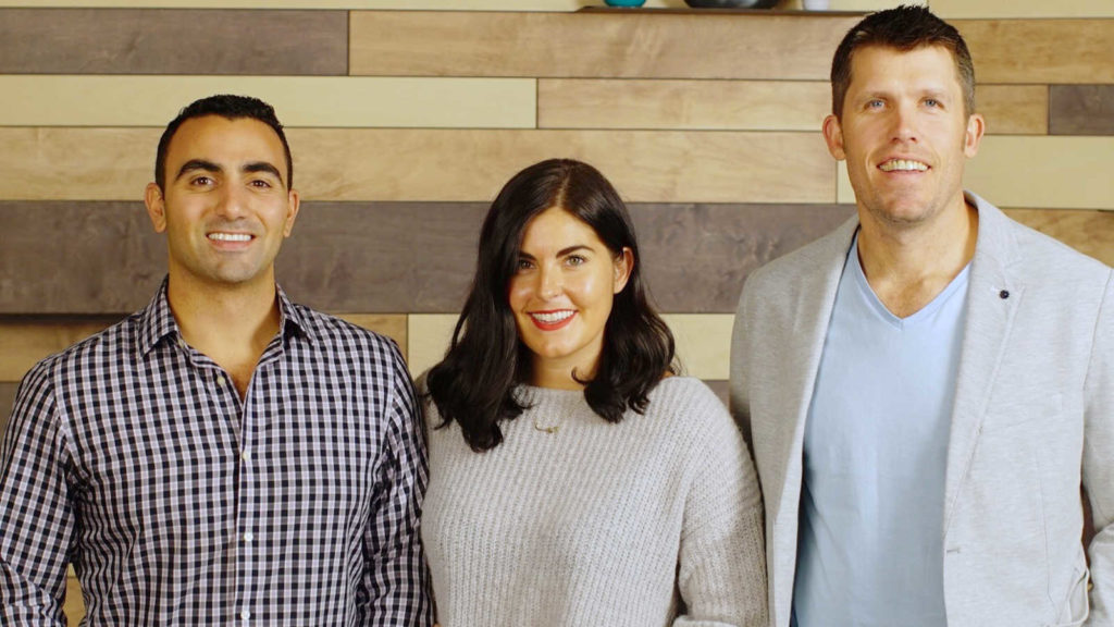 Featured image: Wala team from left to right COO Samer Saab, CEO Tricia Martinez and CTO Ross McEwan (Supplied)