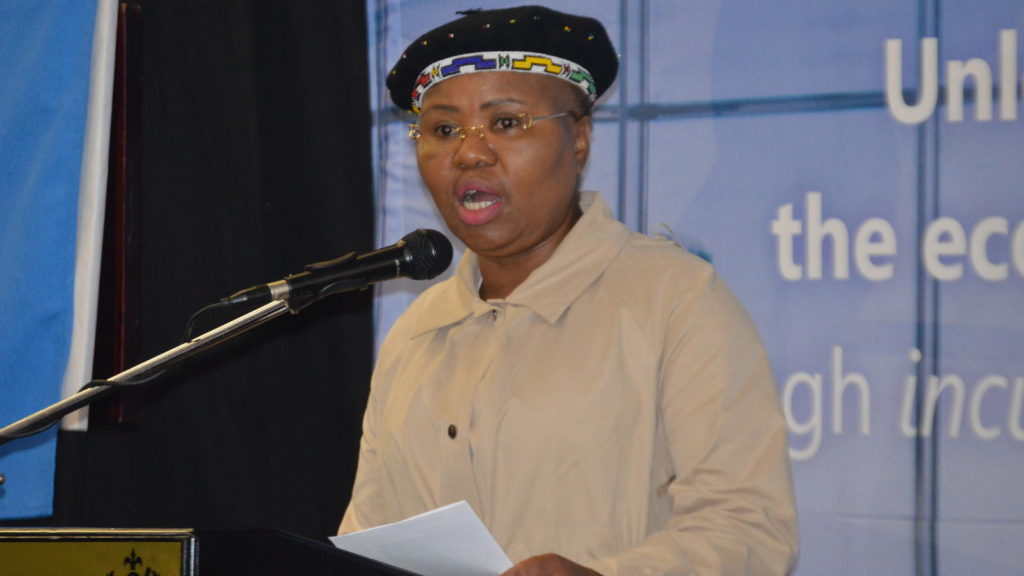 Featured image: Minister of Small Business Development Lindiwe Zulu at the SABTIA launch in Johannesburg (Supplied)