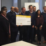 Featured image: MyLifeline co-founder Herman Bester with the judges of the Santam Safety Ideas Challenge Santam for Business via Twitter