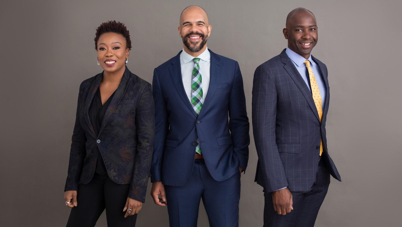 Featured image, left to right: Migo executive team Adia Sowho, Ekechi Nwokah, and Kunle Olukotun (Supplied)