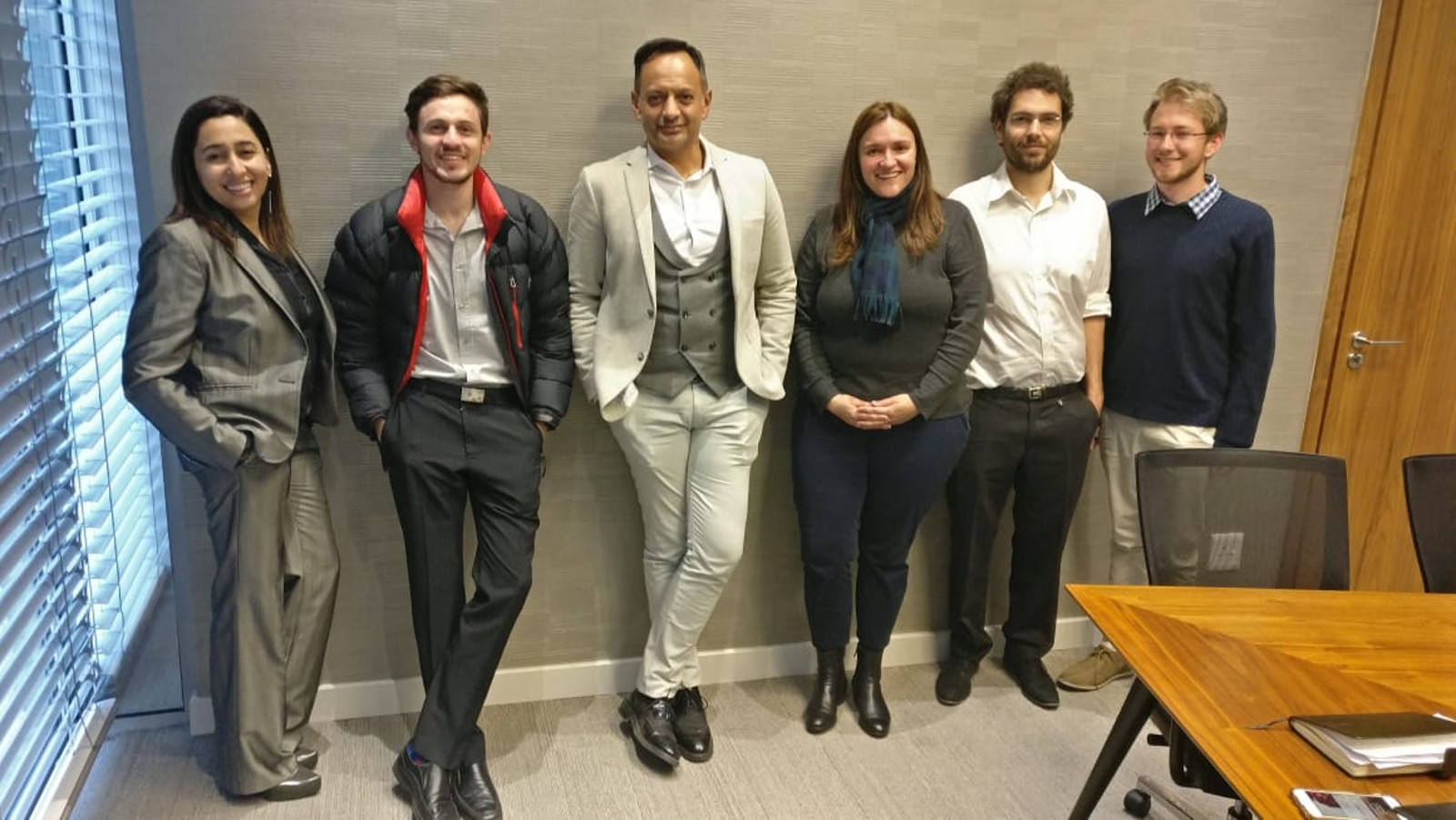 Portable Lawyer team (from left to right): Safiyya Patel, Kerren Ortlepp; Hoosain Karjieker, Melanie van Biljon, Yves Rivard and Liam Brooksbank