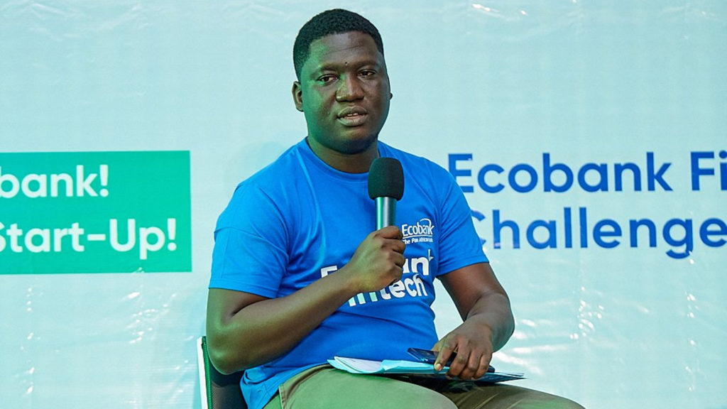 Featured image: Inclusive Financial Technologies CEO and founder Paul Damalie at the Ecobank Fintech Challenge and Innovation Fair in Lome, Togo last on 30 August (Ecobank Fintech via Twitter)
