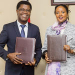 Featured image (left to right): Aims president and CEO, and NEF Chair Thierry Zomahoun and Kenya's Cabinet Secretary for Education Amina Mohamed (Supplied)