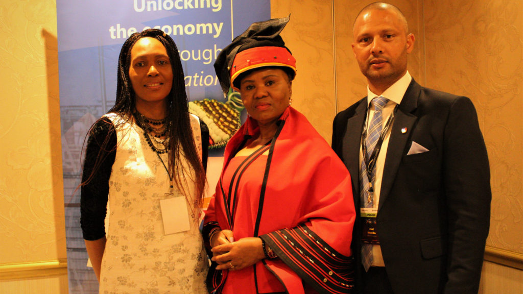 Featured image (left to right): Seda CEO Nosipho Khonkwane, Minister Lindiwe Zulu and SABTIA Chairperson Zaid Mohidin at the first SABTIA Africa Tech Conference (Supplied)