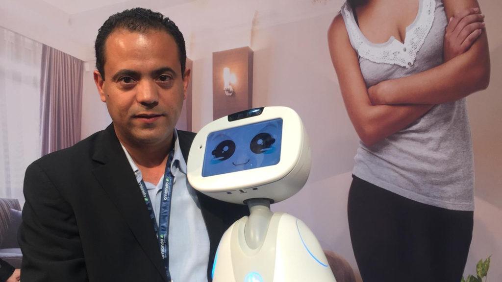 Featured image: Enova Robotics founder Anis Sahbani at Innorobo 2016 (ENOVA Robotics via Facebook)