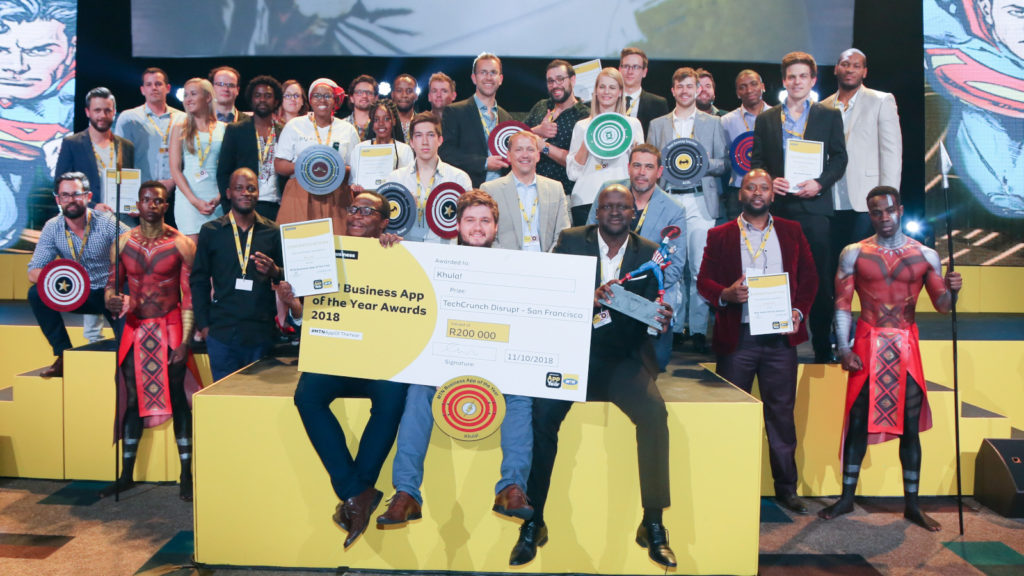 Featured image: Winners of the 2018 MTN Business App of the Year Awards (Supplied)