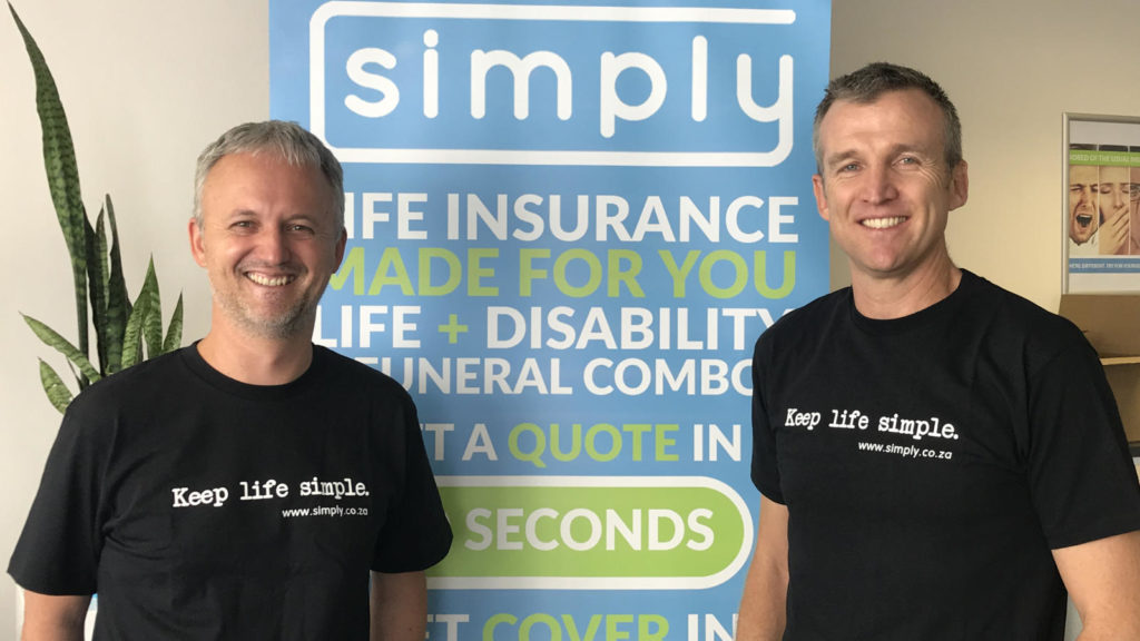 Featured image (from left to right): Simply Financial Services founders head of product and Analytics Simon Nicholson and CEO Anthony Miller (Supplied)
