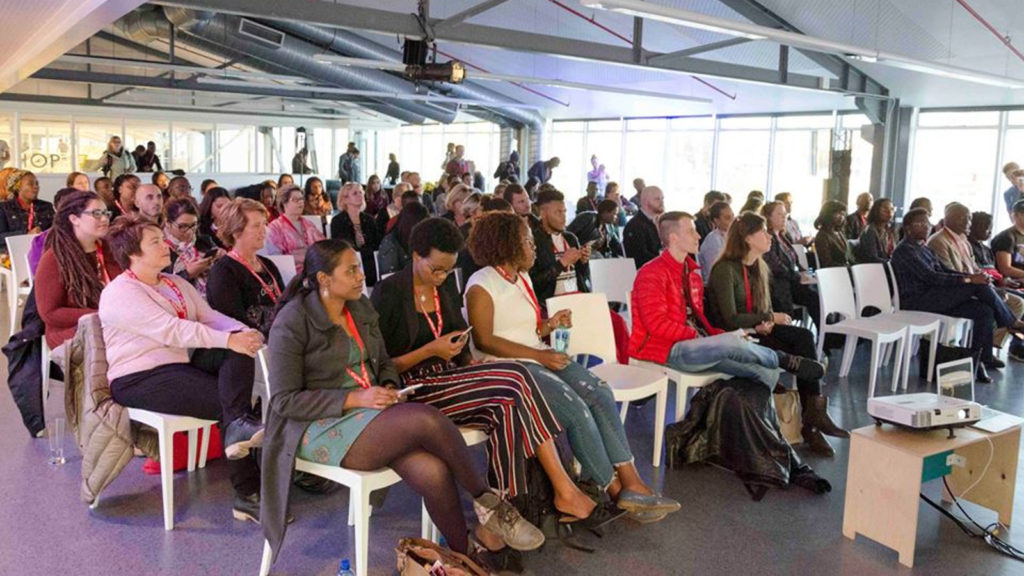 Featured image: The audience at a Startup Grind Cape Town event last month at Workshop 17 ( Startup Grind Cape Town via Facebook)