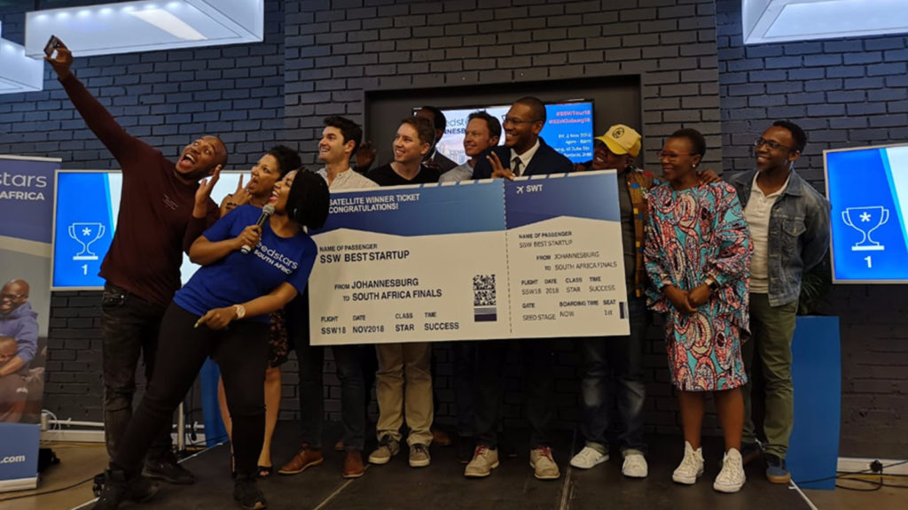 Featured image: Seedstars Johannesburg winners at the Tshimologong Digital Innovation Precinct last Friday, 2 November (Supplied)