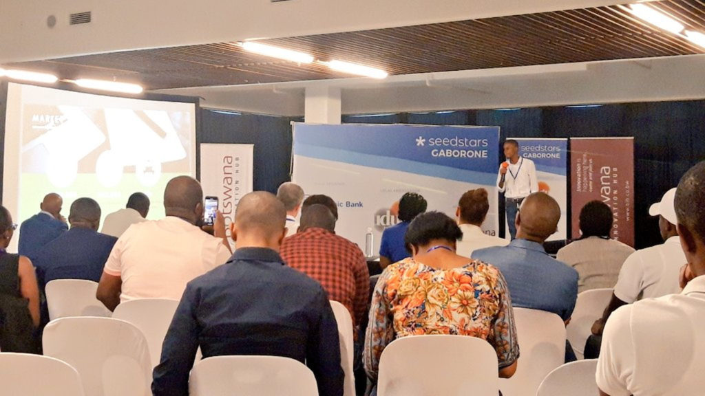 Featured image: Part of the crowd at last Friday's Seedstars Gaborone pitch event (Tirelo Ramasedi via Twitter)