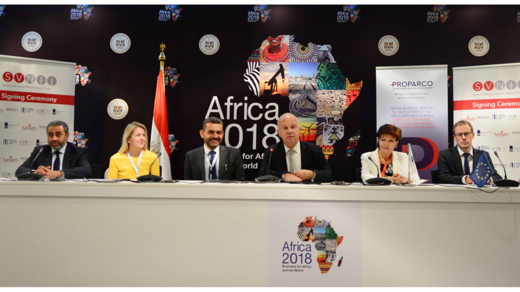 Featured image: Sawari Ventures team with investors during the signing ceremony yesterday (9 December) on the sidelines of the last day of the Africa 2018 Business Forum in Sharm El Sheikh in Egypt