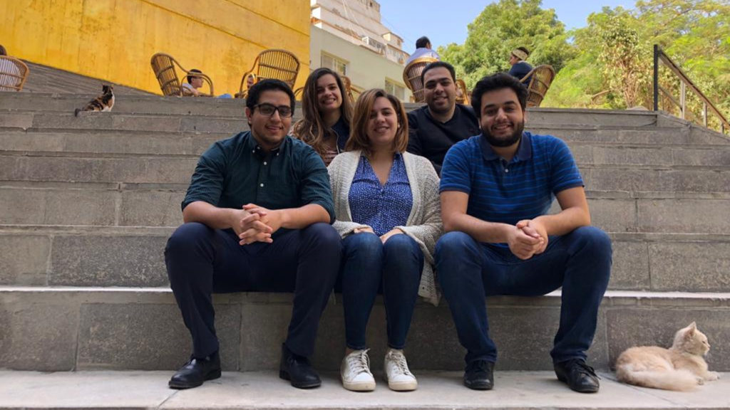 Featured image (left to right, front row): Cairo Angels investment associate Ahmed Hegazy, Cairo Angels general manager Zeina Mandour, MINT Incubator programme manager Ahmed Samir. (Back row) MAIN Project leader Mariam Yassin, Cairo Angels investment associate Muhammed Hegazy (Supplied)