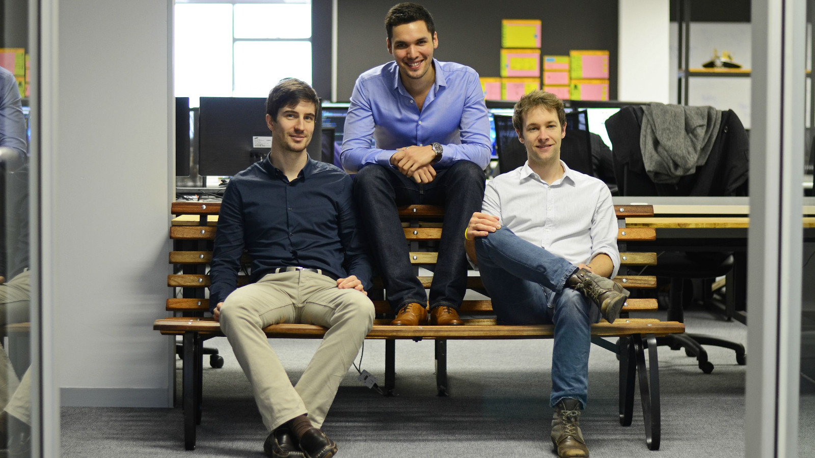 Featured image (From left to right ): WhereIsMyTransport founders Chris King, Devin de Vries and Dave New (Supplied)