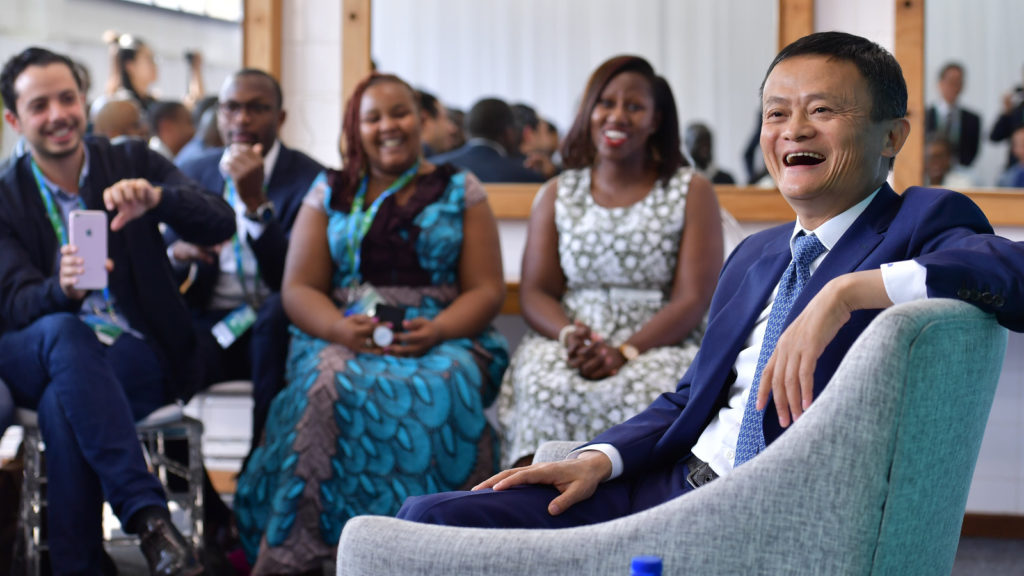 Featured image: Alibaba Group chairperson Jack Ma engages with entrepreneurs from across Africa during the launch of the Africa Netpreneur Prize Initiative in Johannesburg in 2018 (Supplied)