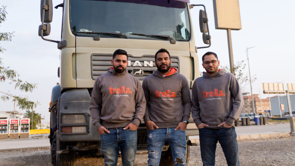 Featured image, left to right: Trella head of operations Muhammed El Garem, CEO and co-founder Omar Hagrass, CTO and co-founder Pierre Saad (Supplied)