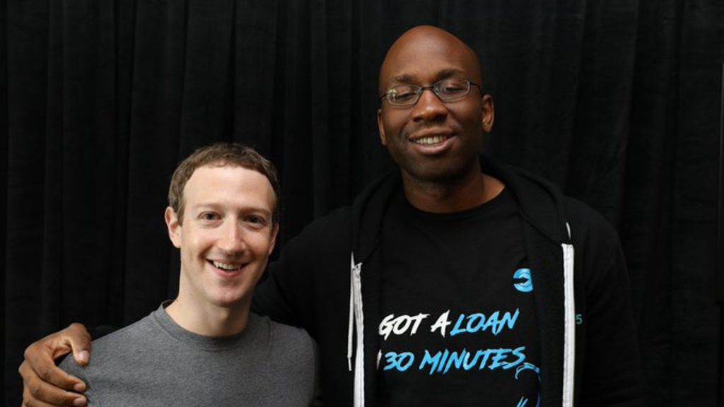 Featured image, left to right: Facebook founder Mark Zuckerberg and OneFi CEO and co-founder (Chijioke Dozie via Twitter)