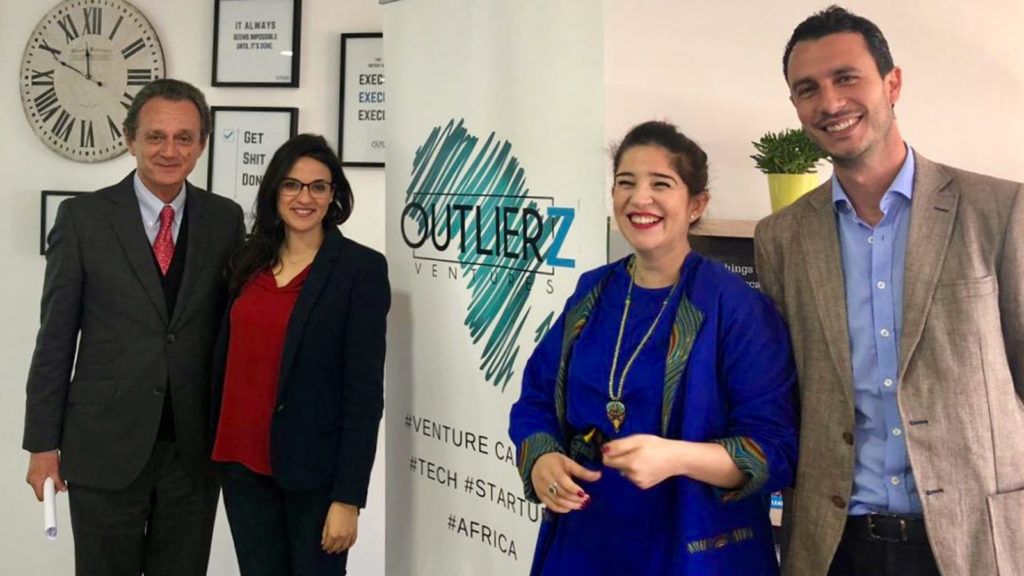 Featured image, from left to right: Outlierz Ventures board member Joel Sibrac, Outlierz Ventures founder and managing partner Kenza Lahlou, Outlierz Ventures partner and board member Laila Slassi, and Outlierz Ventures founder and general partner Ali Bensouda (Supplied)