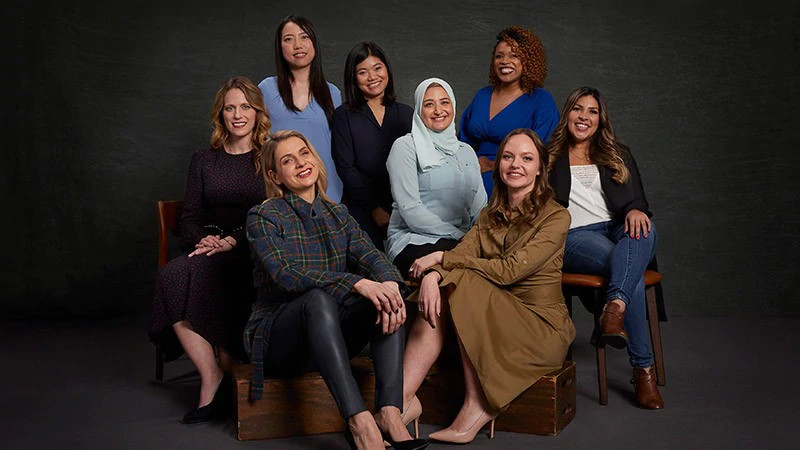 Featured image: Past Visa Everywhere Initiative participants. Back row, left to right: AiFi's Ying Zheng, bePOS's Nga Pham, and BeautyLynk's Rica Elysee. Middle row, left to right: Loop & Tie's Sara Rodell, VRteek's Rania Helal, and Culqi's Amparo Nalvarte. Front row, left to right: Paytailor's Mariliis Mia Topp and Persollo's Olga Oleinikova (Visa)