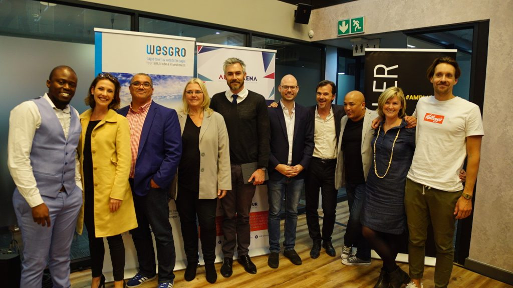 Featured image, left to right : Data Prophet's Isaac Mastra, The Loudhailer's Caitlin Nash, RCS's Rudi Visser, Knife Capital's Andrea Böhmert,  Wesgro's Tim Harris, Aerobotics' Tim Willis, Methys' Christophe Viarnaud, AfricArena's Kieno Kammies, Edge Digital's Katie Findlay and AfricArena's Adrien Marie (Supplied)