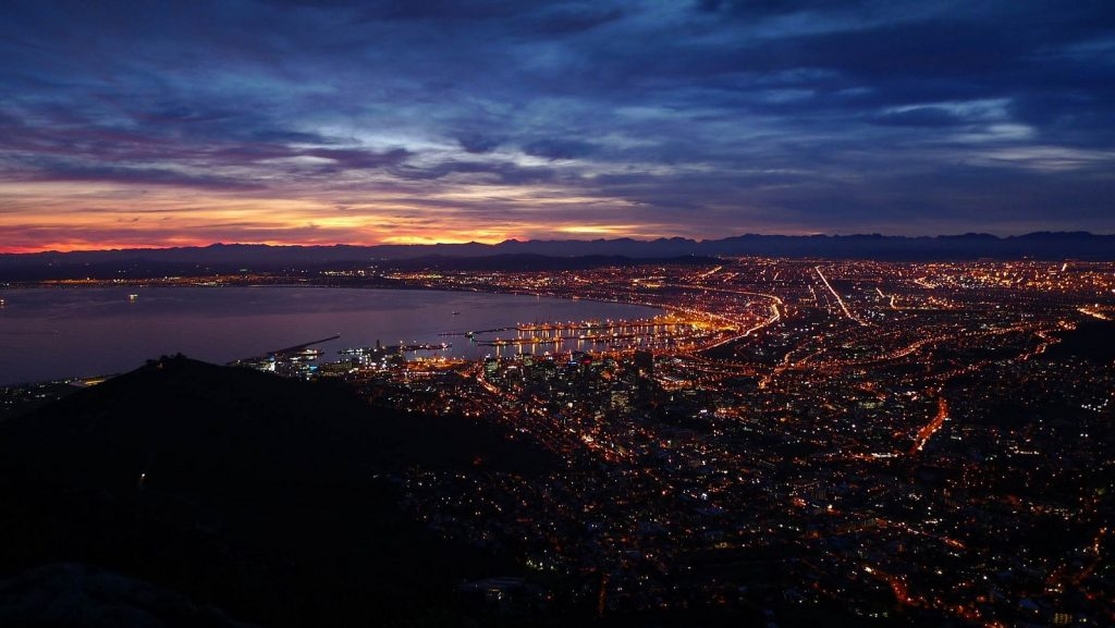 Featured image: Cape Town city centre at night (nobull via Pixabay)