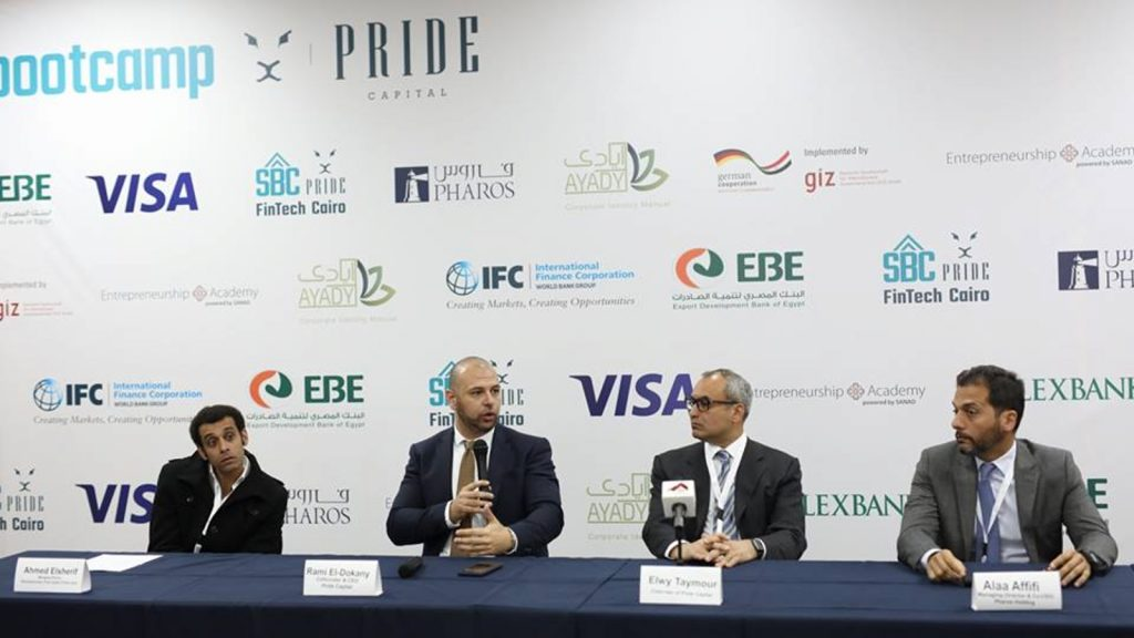 Featured image, left to right: Startupbootcamp-Pride FinTech Cairo director Ahmed Elsherif, Pride Capital CEO Rami El Dokany, Pharos Holdings chairman and CEO Elwy Taymour and Pharos Holdings managing director and CEO Alaa Al Afifi (Pride Capital via Facebook)