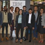 Featured image: IBM Techscale cohort pictured with IBM and Yiedi representatives (Supplied)