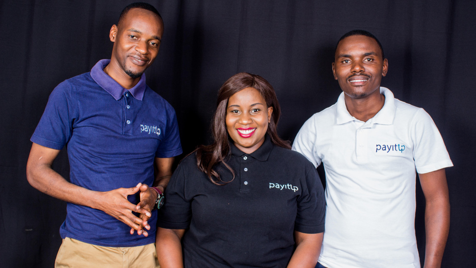 Featured image, left to right: Payitup founding team president Ronald Tapfuma Rwodzi, CEO Aretha Gonyora, and COO Kenneth Tafadzwa Matikizha (Supplied)
