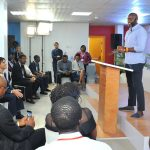 Featured image: Facebook VP Partnerships Ime Archibong opening the launch event at NG_Hub in Lagos last year (Facebook)