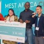 Featured image, left to right: Snode Technologies CEO and founder Nithen Naidoo, Oze CEO and co-founder Meghan McCormick, WayaWaya founder Teddy Ogallo and MEST Founder Jorn Lyseggen (pictured above, right)