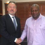 Featured image, left to right:German ambassador to GhanaChristoph Retzlaff withformer Ghanaian president John Dramani Mahama (Christoph Retzlaff via Twitter)