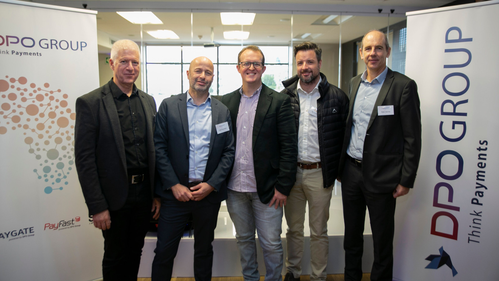 Featured image (left to right): DPO Group chairman Offer Gat, DPO Group CEO Eran Feinstein, PayFast MD and co-founder Jonathan Smit, Axis Partners MD Nicholas Smalle and DPO PayGate MD Peter Harvey