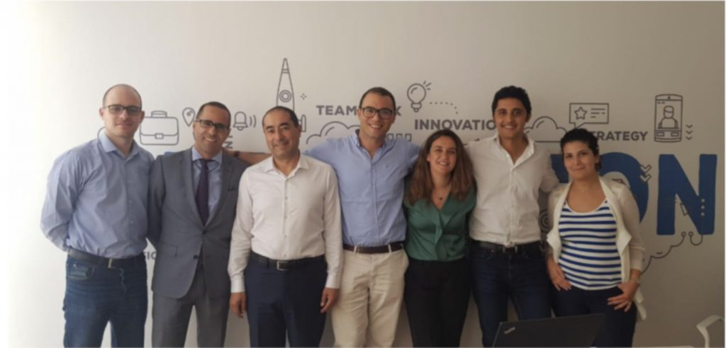 Featured image: The SEAF Morocco team with SOS CEO and founder Bachir Benslimane and counsels (SEAF)