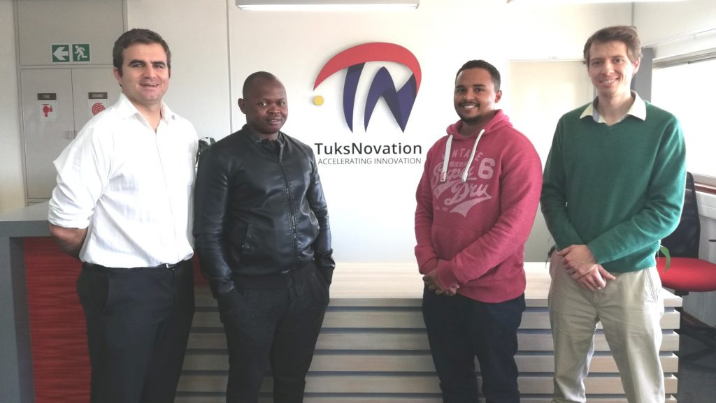 Featured image, left to right: Invoke Analytics CEO Dawie Diamond, Software engineer Takalani Sigama, UX and UI engineer Keanan Jones and COO Herman Carstens (Supplied)
