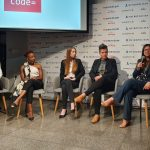 Featured image, left to right: Pleiades Media Kerry Botha, CEO WeThinkCode_ Nyari Samushonga, Over software engineer Clara van Staden, MWR InfoSecurity senior consultant incident response and investigations Joani Green and Momentum Metropolitan Group COO Ashlene Van Der Colff (Supplied)