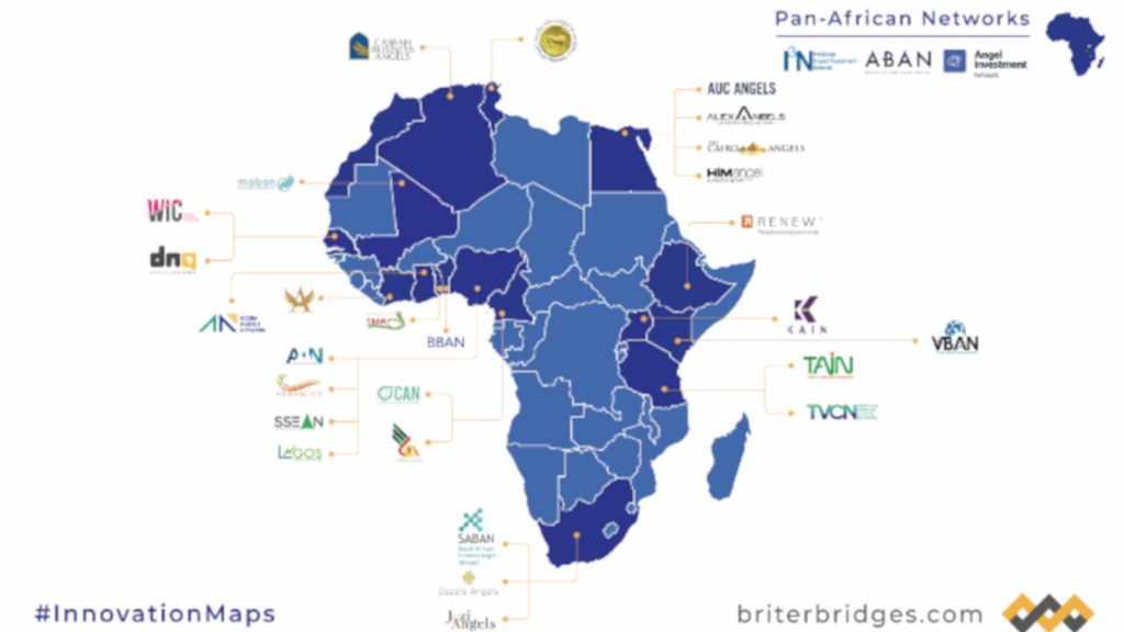Read more: Screenshot of main African angels networks (Briter Bridges)