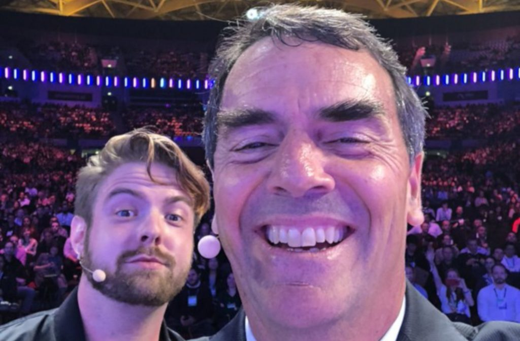 Featured image: Tim Draper with Blockchain co-founder and CEO as well as The PIT Blockchain head Peter Smith (Twitter)