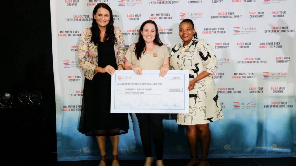 Featured image, from left to right: Allan Gray Regional manager Suzanne Wiid, Springfield Convent accounting and business studies teacher and head of entrepreneurship Kirsty Tromp and Allan Gray Orbis Foundation head of programmes Zimkhitha Peter (Supplied)