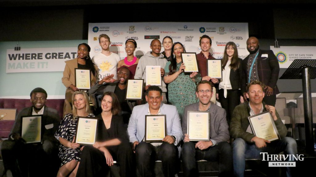 Featured image: 2019 Southern Africa Startup Awards SA chapter winners (Supplied)