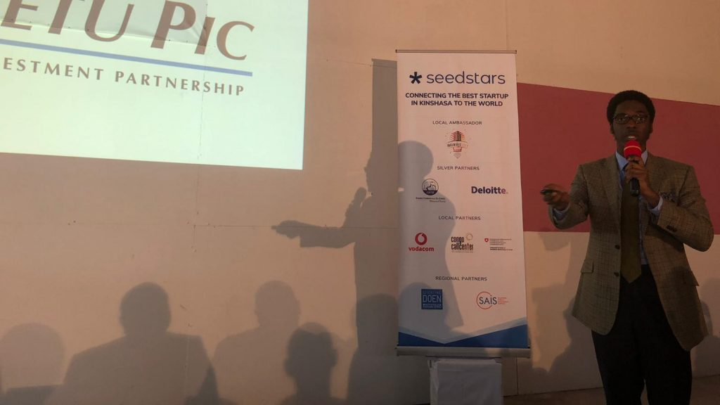 Featured image: Yetu PIC team member pitching at Seedstars Kinshasa (Seedstars via Twitter)