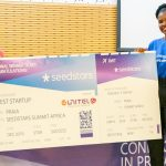 Featured image: Passafree team member receiving the prize at the Seedstars Praia pitching event (Supplied)