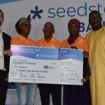 Featured image: Members of Nadji.Bi Gambia team at Seedstars Banjul (Supplied)