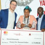 Featured image, left to right: African Leadership Academy vice president growth and entrepreneurship Josh Adler, KIM's School Complex founder Yannick Kimanuka and Mastercard Foundation programme manager Koffi Assouan (Supplied)