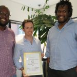Featured image: InvestSure co-founders Ignatious Nkwinika, Shane Curran and Mbulelo Mpofana (Supplied)