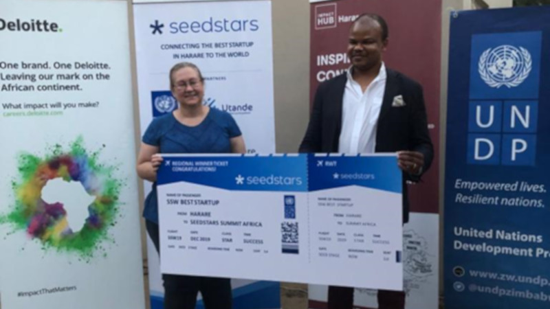 Featured image, left to right: Participants at Seedstars Harare including Africabookings area representative for Zimbabwe, Zambia and Botswana Thulise Mhlanga(Seedstars)