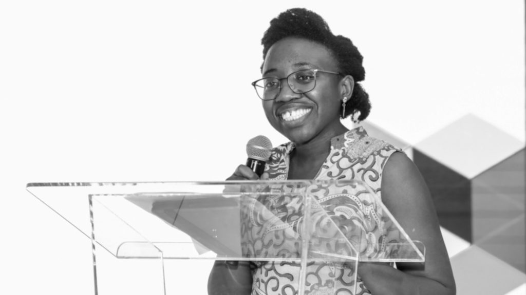 Featured image: Anzisha deputy director Melissa Mbazo-Ekpenyong speaking at the Anzisha Prize Forum (Supplied)