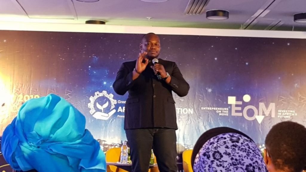 Featured image: Lifiled founder and CEO Ange Frederick Balma speaking at an Entrepreneurs On The Move Event (Africa Salons via Twitter)