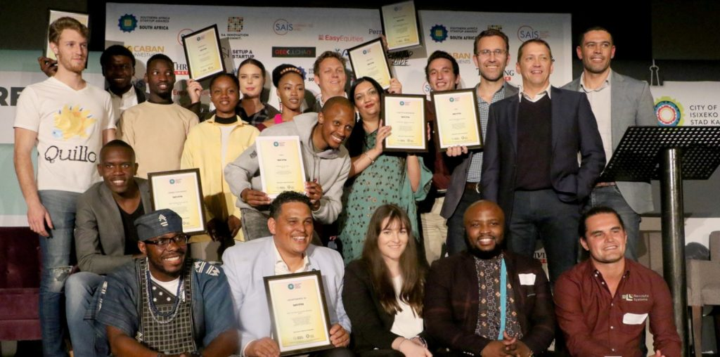 Featured image: Some of the South Africa 2019 SASAwards national finalists (Global Startup Awards - Southern Africa via Facebook)